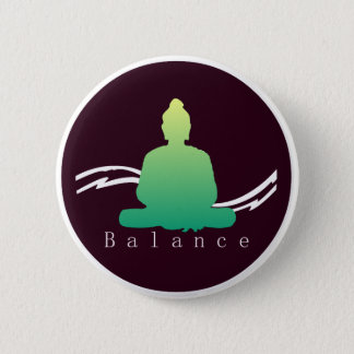 """Balance"" Beautiful Buddha. 2 Inch Round Button"