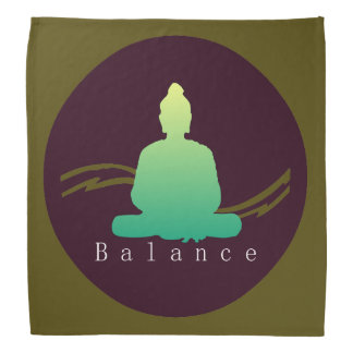 """Balance"" Beautiful Buddha. Bandana"