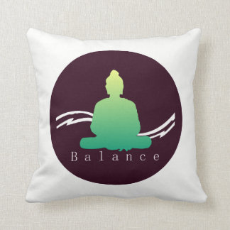 """Balance"" Beautiful Buddha cushion. Throw Pillow"