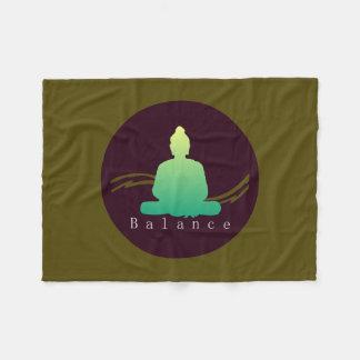 """""""Balance"""" Beautiful Buddha. Fleece Blanket"""
