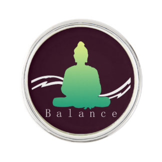 """Balance"" Beautiful Buddha. Lapel Pin"