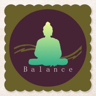"""""""Balance"""" Beautiful Buddha. Paper Coaster"""