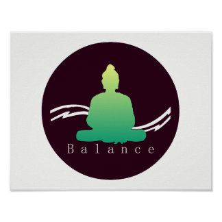 """Balance"" Beautiful Buddha. Poster"