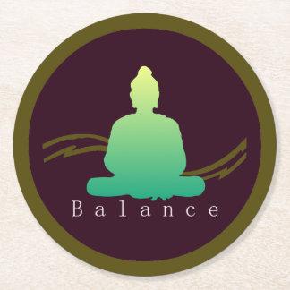 """""""Balance"""" Beautiful Buddha. Round Paper Coaster"""