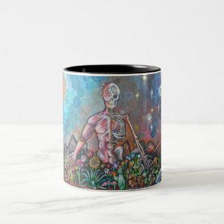 balance by adrian delgado Two-Tone coffee mug