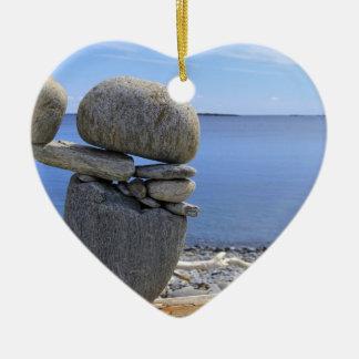 Balance Ceramic Heart Ornament