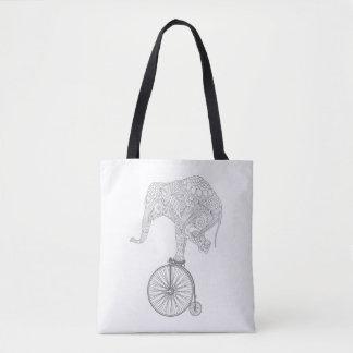 Balance Elephant Tote Bag