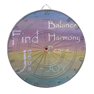 Balance Harmony Peace  ... JOY Dartboard