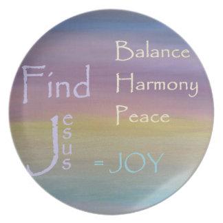 Balance Harmony Peace  ... JOY Dinner Plate