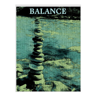 Balance is Everything - Pen & Ink Style Poster
