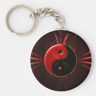 Balance of Fire Yin Yang Key Chain