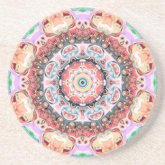 Balance of Pastel Shapes Coaster