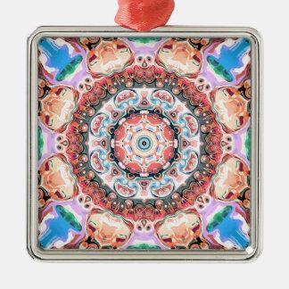 Balance of Pastel Shapes Metal Ornament