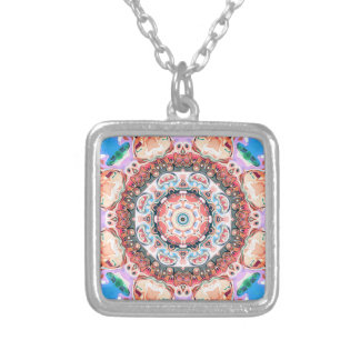 Balance of Pastel Shapes Silver Plated Necklace