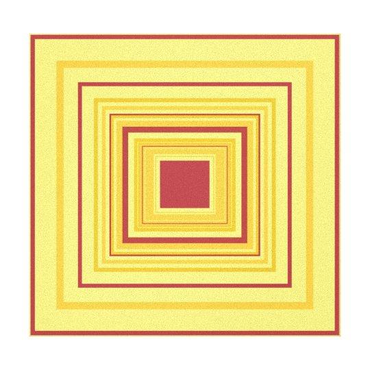 BALANCE - Red Gold Decorative Design 2 Canvas Print
