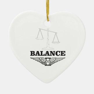 balance scales hard ceramic heart ornament
