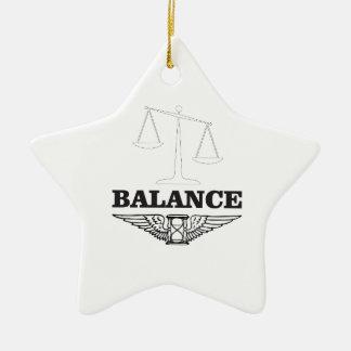 balance scales hard ceramic star ornament