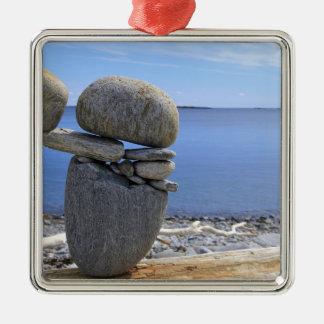 Balance Silver-Colored Square Ornament