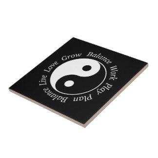 Balance Yin Yang Symbol Tile