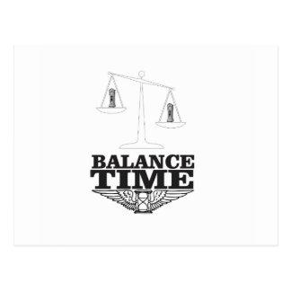 balance your time postcard