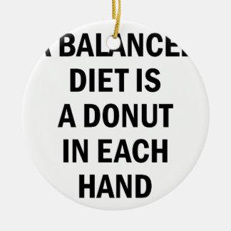 Balanced Diet Ceramic Ornament