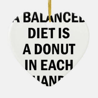 Balanced Diet Ceramic Ornament