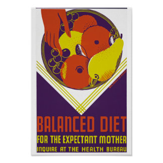 Balanced Diet for the Expectant Mother Poster