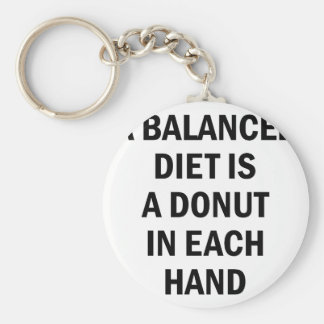 Balanced Diet Keychain