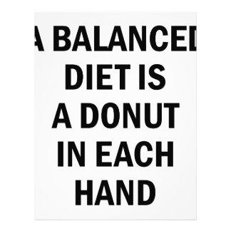 Balanced Diet Letterhead