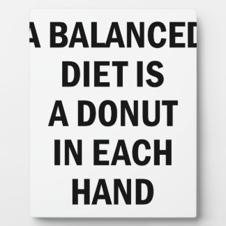 Balanced Diet Plaque