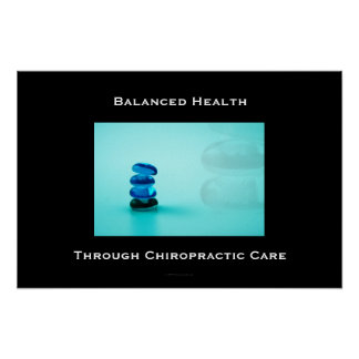 Balanced Health Through Chiropractic Care Poster 1