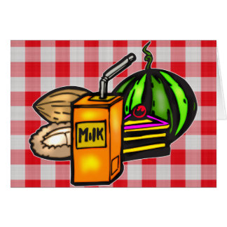 Balanced Meals Greeting Card