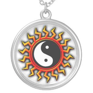 Balanced Yin Yang Sun Necklace