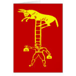 Balancing a Living Donkey ~ CHANGE COLOR Card