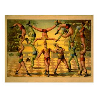 Balancing Acrobats Circus Poster Postcard
