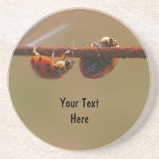 Balancing Ladybugs Nature Drink Coaster
