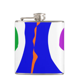 Balancing on Fire Hip Flask