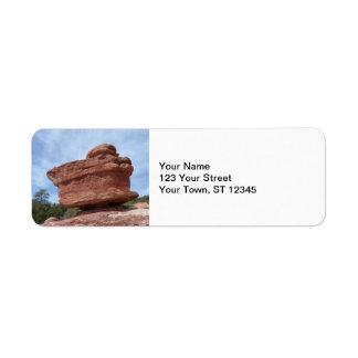 Balancing Rock- Garden of the Gods Return Address Label