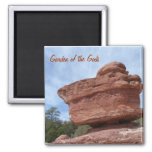 Balancing Rock- Garden of the Gods Square Magnet