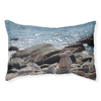 Balancing Rocks Stones Ocean Water Indoor Dog Bed