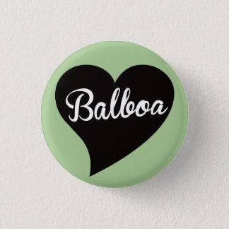 Balboa Black Heart Mint 1 Inch Round Button
