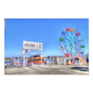 """Balboa Fun Zone """"  Ferris Wheel Photo Print"""
