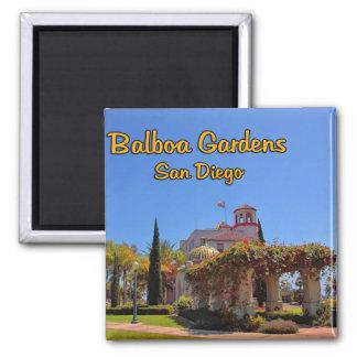 Balboa Garden Activity Center San Diego California Square Magnet