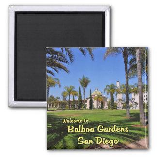Balboa Gardens San Diego California Square Magnet