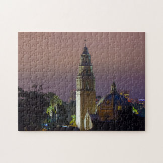 Balboa Park California Tower Dome at Dusk Puzzle