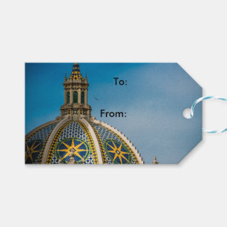 Balboa Park San Diego Mosaic Dome Architecture Gift Tags