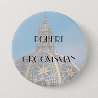 Balboa Park San Diego Mosaic Dome Groomsman 3 Inch Round Button