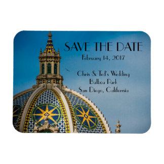 Balboa Park San Diego Mosaic Dome Save the Date Rectangular Photo Magnet