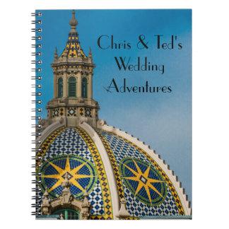 Balboa Park San Diego Mosaic Dome Wedding Journal Notebook