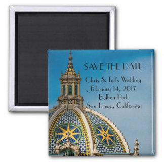 Balboa Park San Diego Mosaic Dome Wedding Square Magnet